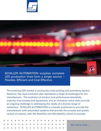 SCHILLER AUTOMATION supplies complete LED production lines ...