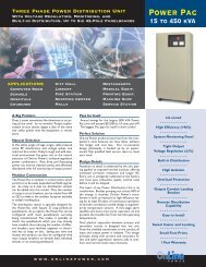 Data Sheets - Online Power, Inc.