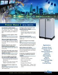 The ultimate UPS solution - Online Power, Inc.