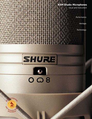 KSM Studio Microphones - NTC Inc.