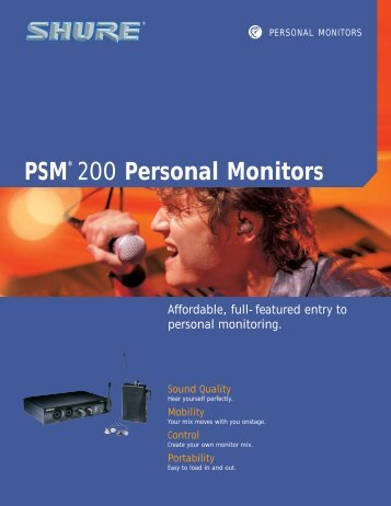 PSM® 200 Personal Monitors - NTC Inc.
