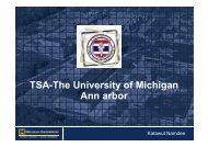 TSA-The University of Michigan Ann arbor - US Watch