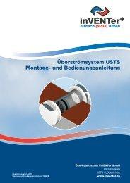 Überströmsystem USTS Montage- und Bedienungsanleitung