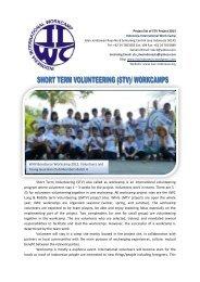 IIWC International Project description summer 2013 for Local