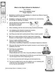 ATTITUDE - Insight Meditation Center