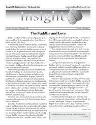Insight News 4/05 - Insight Meditation Center