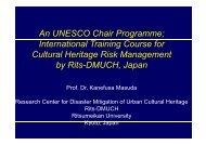 UNESCO Chair on Cultural Heritage and Risk ... - Nexus-idrim.net