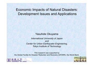 economic impact of natural disasters Socio-economic impacts of natural disasters in the caribbean economic commission for latin america and the caribbean subregional headquarters for the caribbean.