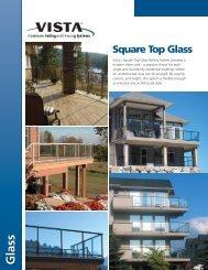 Vista® Square Top Railing with Glass - Membrane.com
