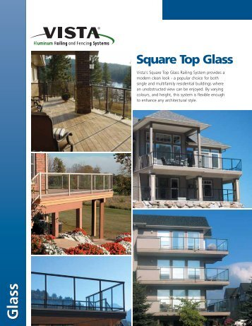 Vista® Square Top Railing with Glass - Membrane.com