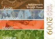 FY 2009 Annual Report - Asian American Health Initiative