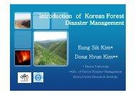 E.S. KIM, D.H. KIM: Forest Disaster Status in Korea - Nexus-idrim.net