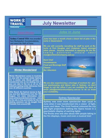 July Newsletter - Travel Active