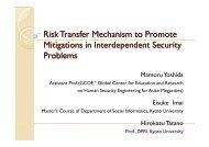 Risk Transfer Mechanism to Promote Mitigations in ... - NEXUS-IDRiM