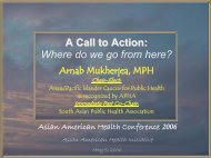 Where do we go from here? - Asian American Health Initiative