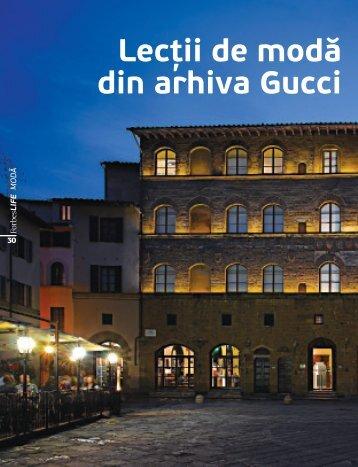 Lecţii de modă din arhiva Gucci - Diana-Florina Cosmin