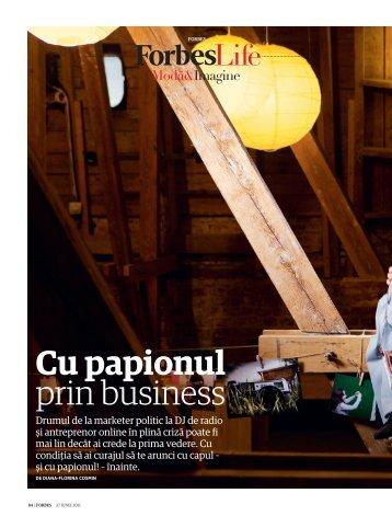 Cu papionul prin business - Diana-Florina Cosmin