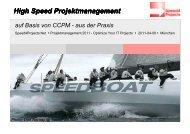 High-Speed-Projektmanagement auf Basis von ... - speed4projects
