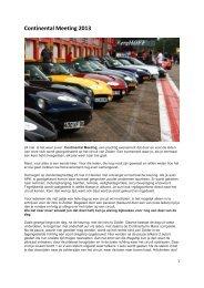Continental Meeting 2013 - TVR Car Club Holland