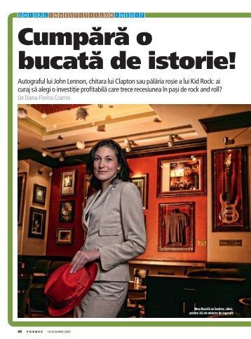Cumpără o bucată de istorie! - Diana-Florina Cosmin