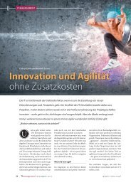 Innovation und Agilität ohne Zusatzkosten - speed4projects