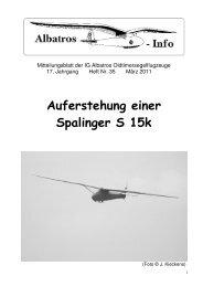Auferstehung einer Spalinger S 15k - IG Albatros