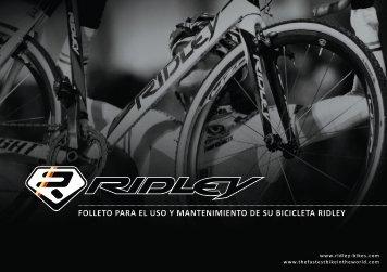 folleto para el uso y mantenimiento de su bicicleta ridley