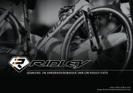 Use and maintenance booklet of your Ridley bicycle