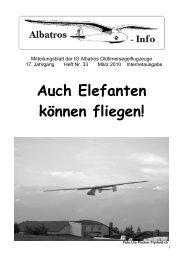 bekannt, aber Kronfeld hatte die Idee dazu, lange ... - IG Albatros