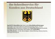 Büroservice für Kunden aus Deutschland - fastNOTE SchreibService