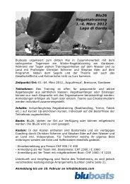 Blu26 Regattatraining 1.-4. März 2012 Lago di Garda - sailingcenter