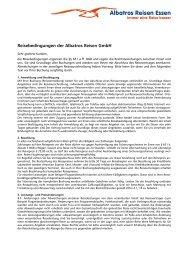 Reisebedingungen als PDF - Albatros Reisen GmbH