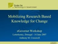 Mobilizing Research Based Knowledge for Change - eGOVERNET