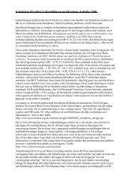 Min kommentar till Läkartidningens artikel som ... - Mona Nilsson