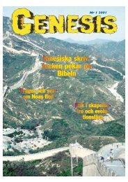 Nr 1 2001 - GENESIS