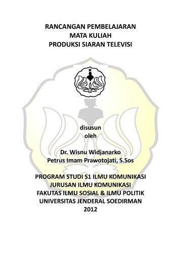 produksi siaran televisi - S1 Ilmu Komunikasi UNSOED