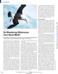 Do Wandering Albatrosses Care About Math?