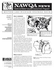 NAWQA News, v 2, no. 1 - USGS Wisconsin Water Science Center
