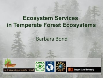 Ecosystem Services in Temperate Forest ... - LTER Intranet