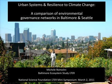 Polycentric networks and resilience in urban systems - LTER Intranet