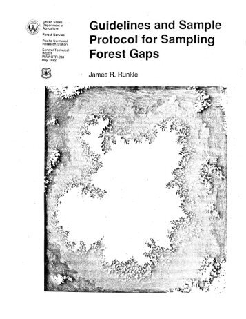 Guidelines and sample protocol for sampling forest ... - LTER Intranet