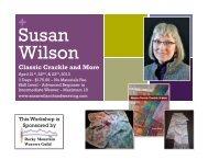 Susan Wilson Poster - Rocky Mountain Weavers Guild