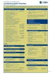 Försäkring för utlandsplacerad personal 2008 - ERV
