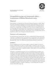 Energieffektivisering och kommunala särkrav - Konjunkturinstitutet