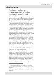 Konjunkturinstitutets prognosmetod för offentliga finanser på ...