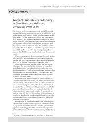 Konjunkturinstitutets bedömning av jämviktsarbetslöshetens ...