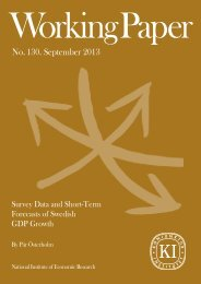 Survey Data and Short-Term Forecasts of Swedish Growth