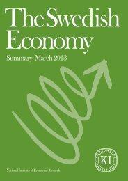 Swedish Economy March 2013 - Konjunkturinstitutet