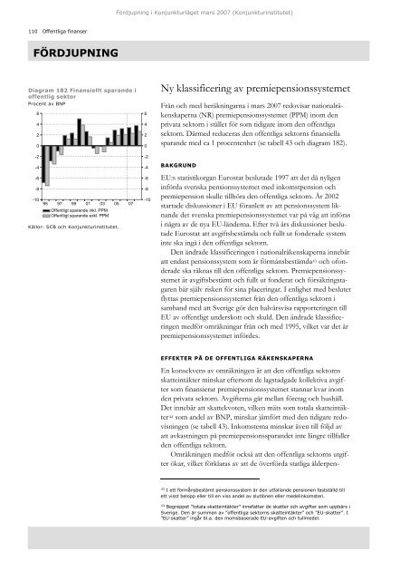 Ny klassificering av premiepensionssystemet - Konjunkturinstitutet