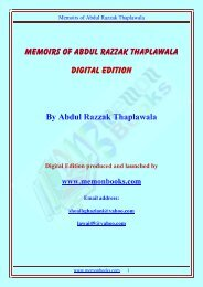 Memoni a new Language Born by Abdul Razzak     - Memon Books